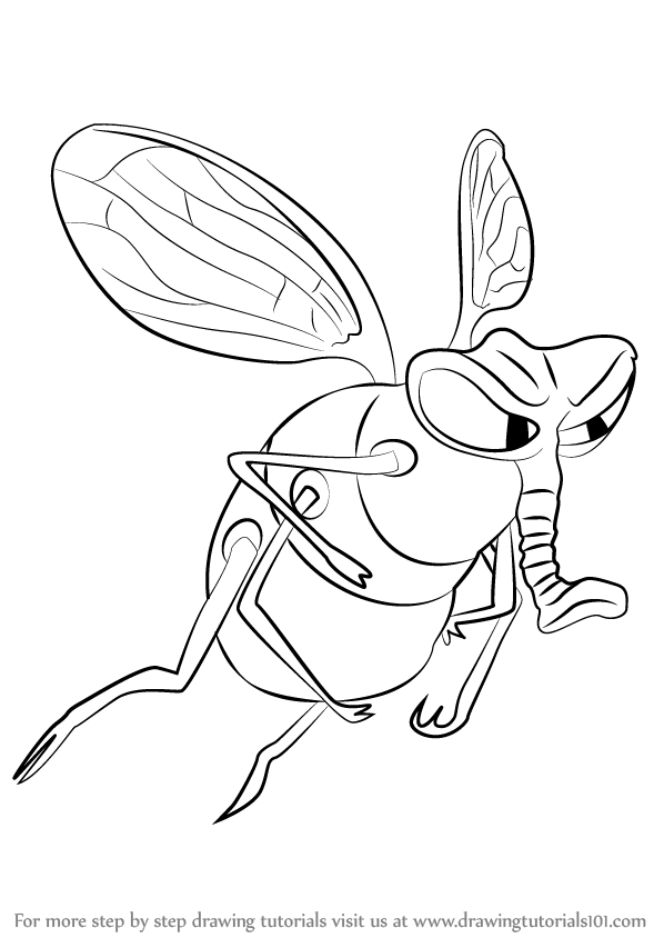 598x844 Learn How To Draw Fly From The Ant Bully (The Ant Bully) Step By