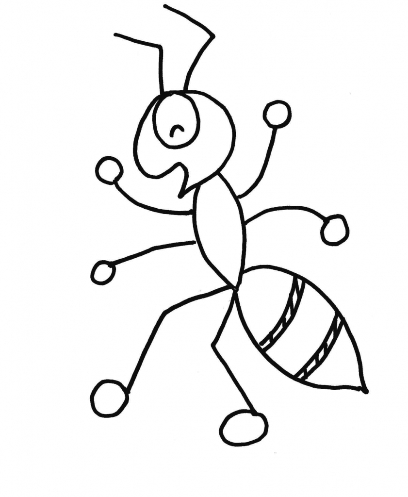 841x1024 Ant Drawing For Kids Ant Drawing Picture