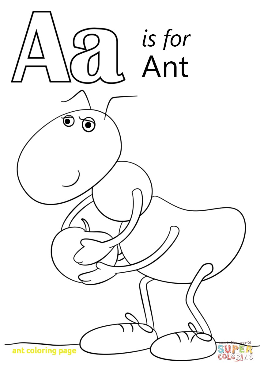 849x1200 Ant Coloring Page With Line Ant Coloring Pages 31 With Additional