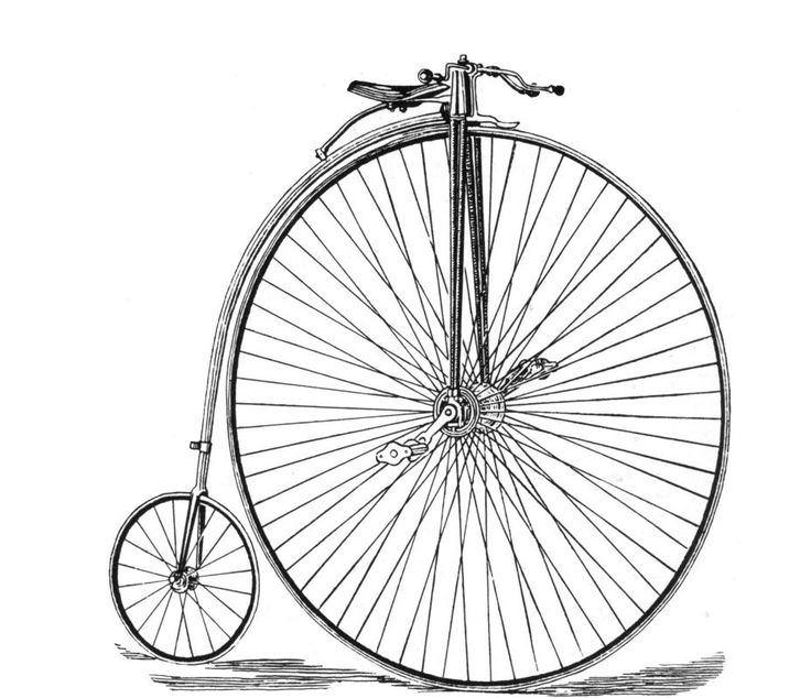 Antique Bicycle Drawing