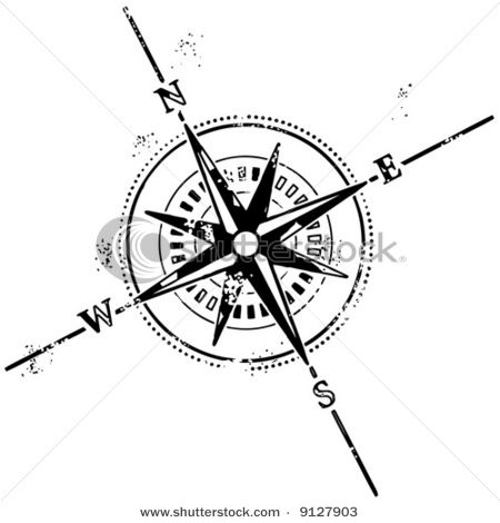 Antique Compass Drawing