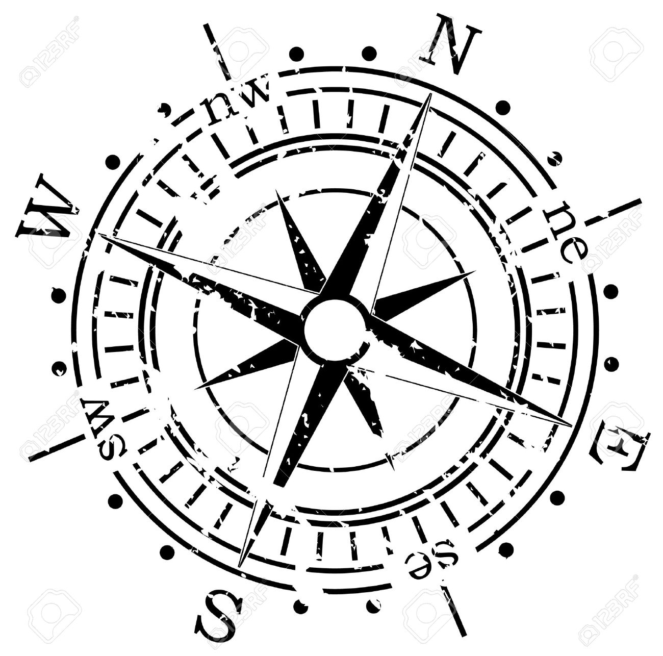 Antique Compass Drawing At GetDrawings