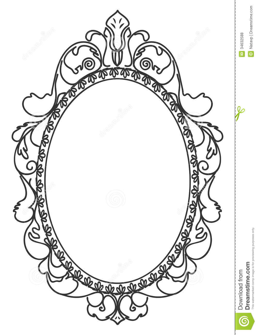 Frame Design Line Art : Antique frame drawing at getdrawings free for
