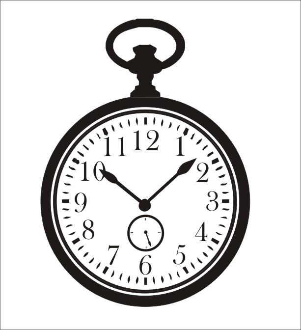 613x672 Vintage Pocket Watch