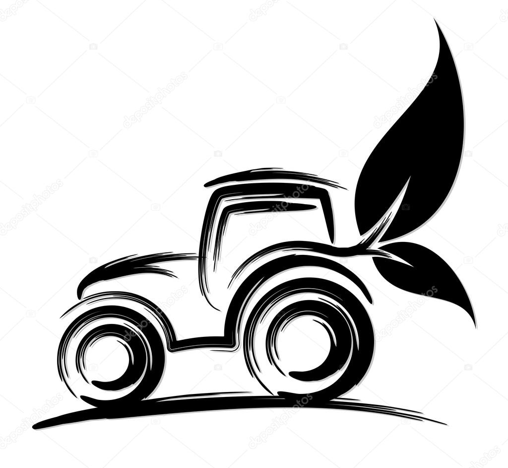 1024x942 Logo Of Eco Friendly Tractor. Stock Vector Designer