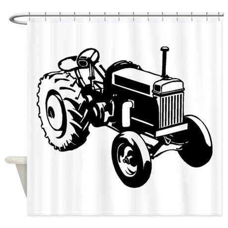 460x460 Old Tractor Shower Curtains Cafepress