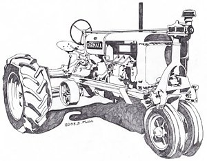 300x234 Antique Tractor Drawings