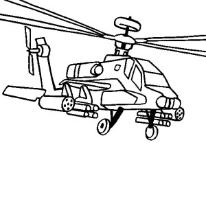 Apache Helicopter Drawing at GetDrawings
