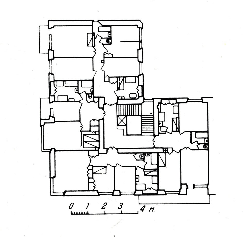 944x919 Gosstrakh Apartment Block Moscow 1926 Plan Of First And Second