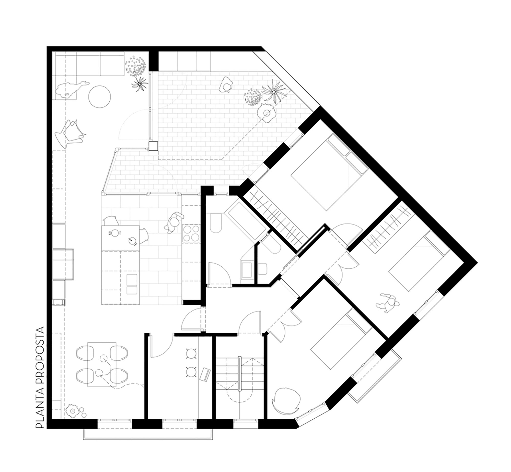 2000x1848 Gallery Of Apartment And Courtyard In Barcelona Cavaa