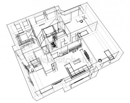 450x357 3d Apartment Sketch Stock Photo Seregalsv