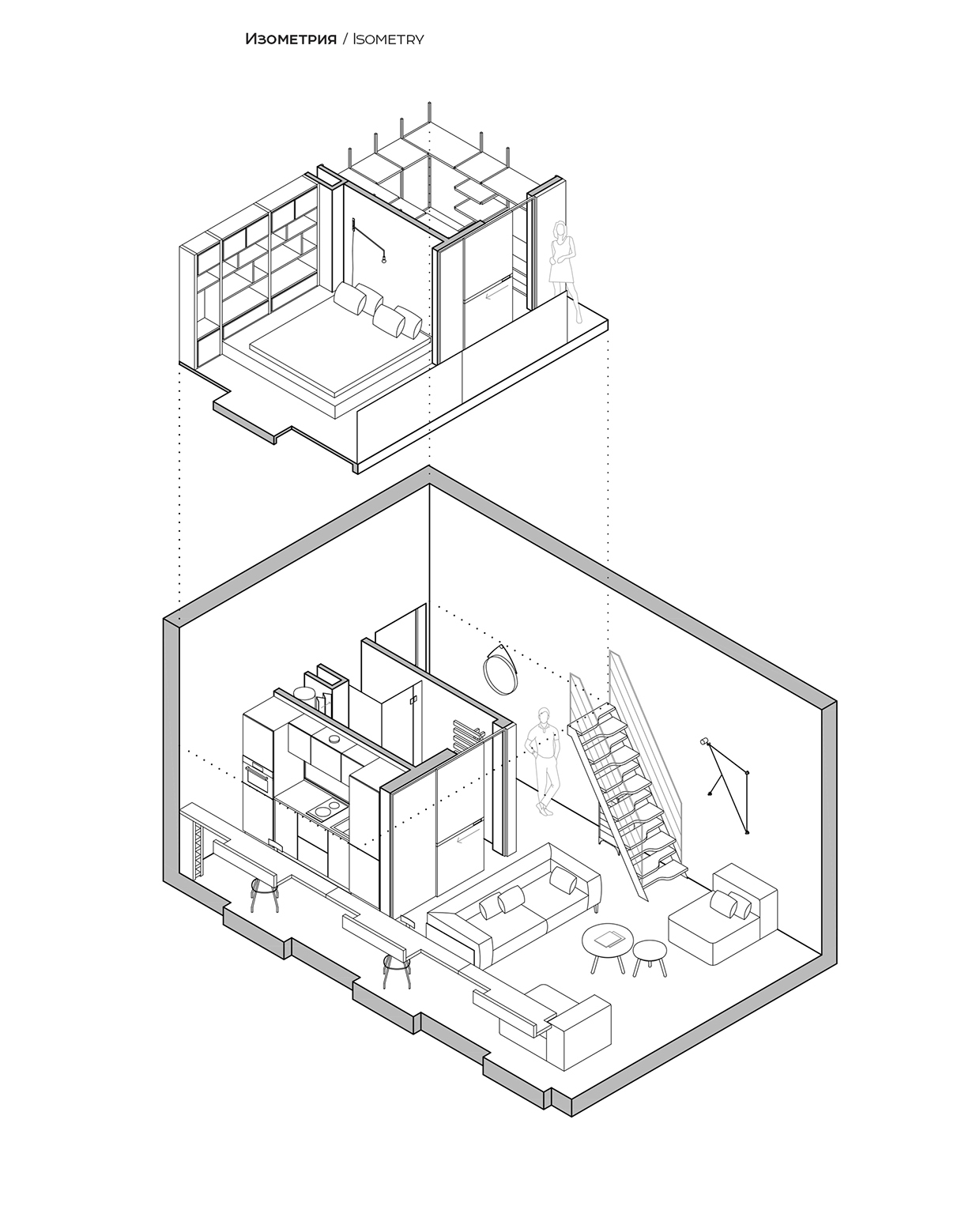 apartment drawing at getdrawings free for personal use Garage Wiring-Diagram 1240x1550 loft apartment layout interior design ideas