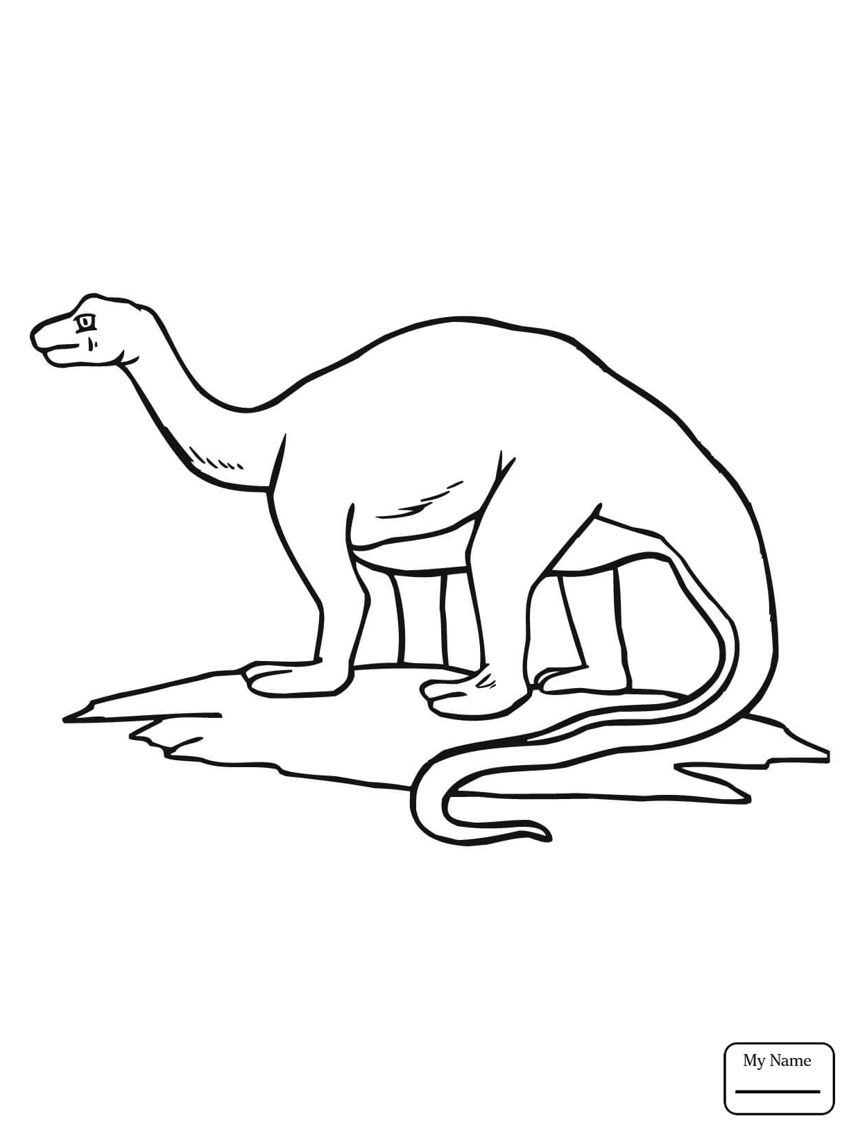 Apatosaurus Drawing