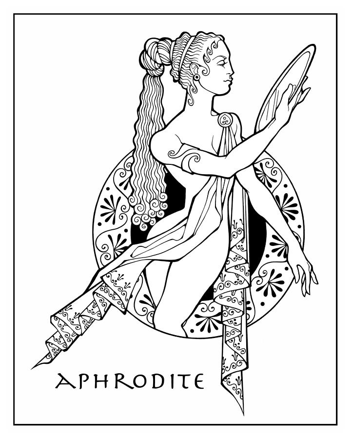 720x900 Aphrodite Drawing By Steven Stines