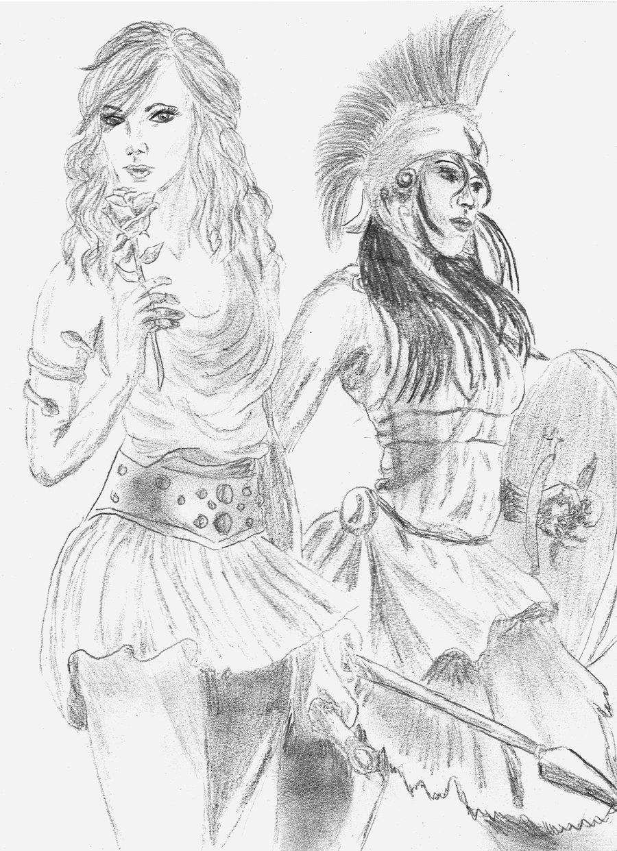 900x1242 Aphrodite And Athena By Lekawetjen