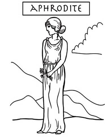 370x480 Aphrodite Coloring, Aphrodite Coloring Pages