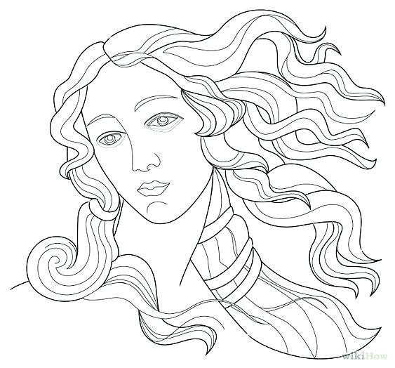 563x524 Aphrodite Coloring Page Coloring Page Coloring Home Greek Goddess