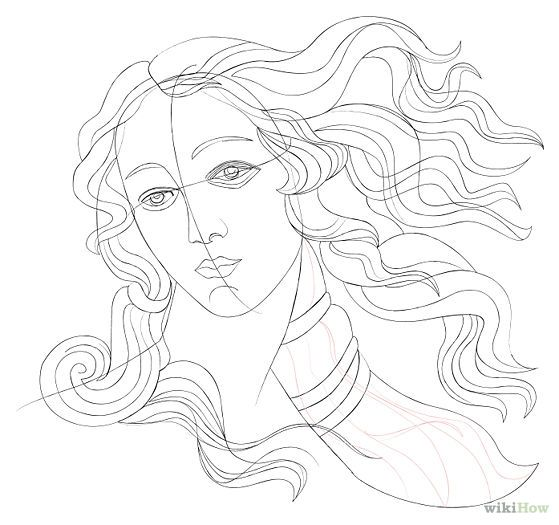 Aphrodite Drawing Easy