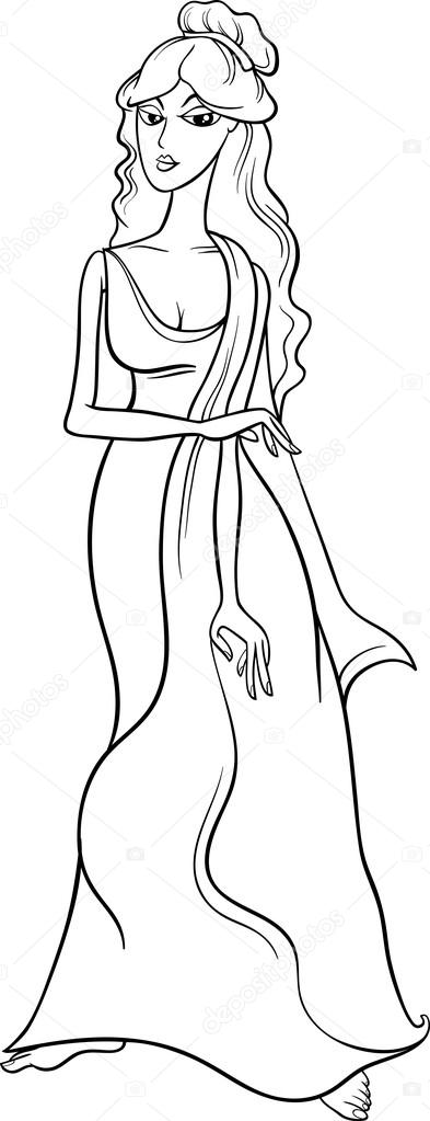 393x1023 Aphrodite Coloring Page Greek Goddess Aphrodite Coloring Pages