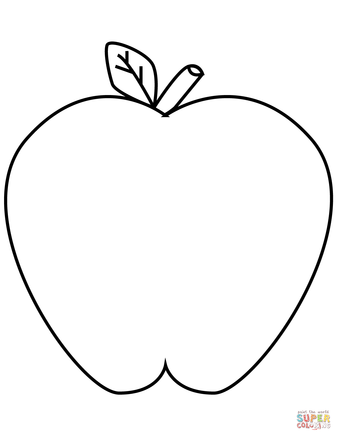 1159x1500 Green Apple Coloring Page Free Printable Pages