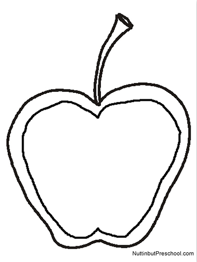 400x533 Stained Glass Apple Art Project Pattern Nuttin' But Preschool