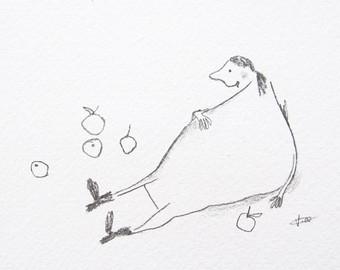340x270 Apple Drawing Etsy