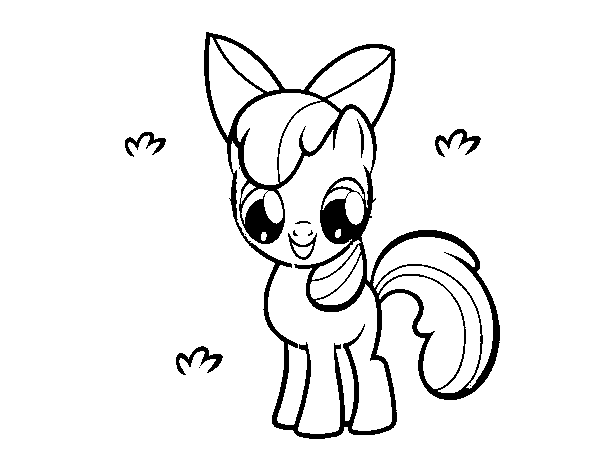 600x470 Apple Bloom Coloring Page