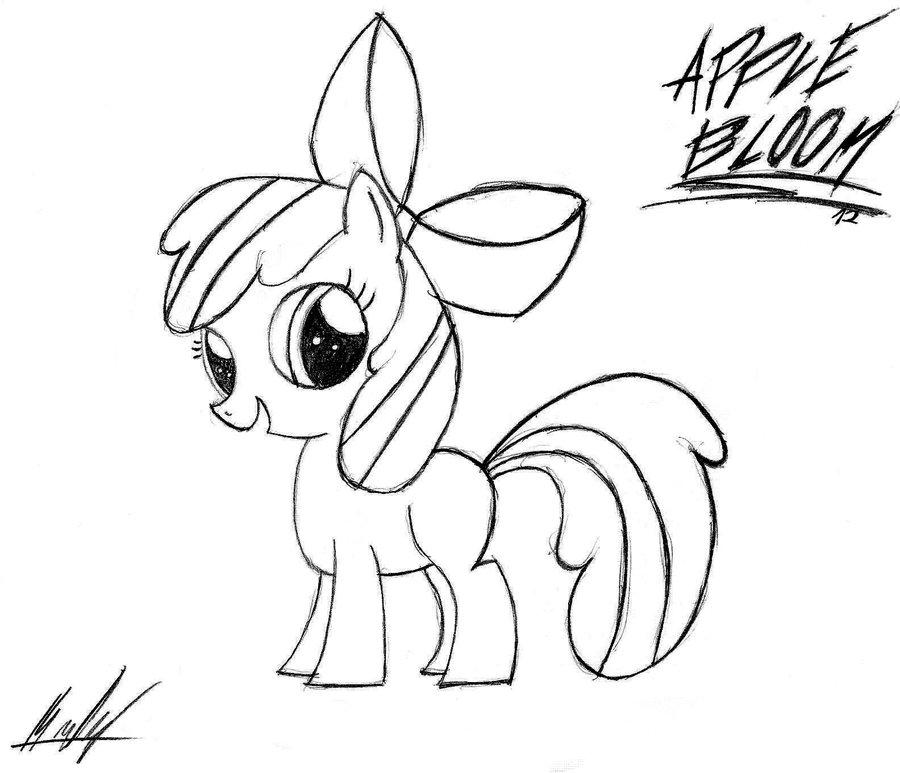 900x773 Apple Bloom Sketch By Mlpst1993