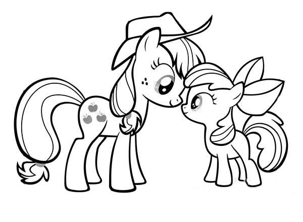600x440 Coloring Page My Little Pony Applejack