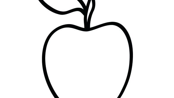 585x329 Coloring Picture Of Apple Apple And Smiling Worm Coloring Page