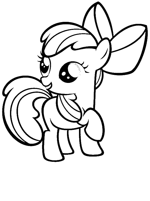 600x800 My Little Pony Apple Bloom Coloring Page