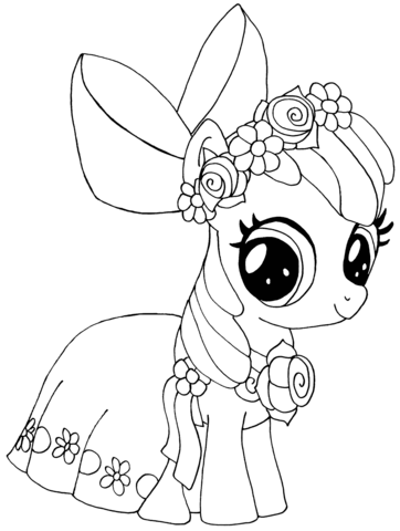 362x480 My Little Pony Apple Bloom Coloring Page Free Printable Coloring