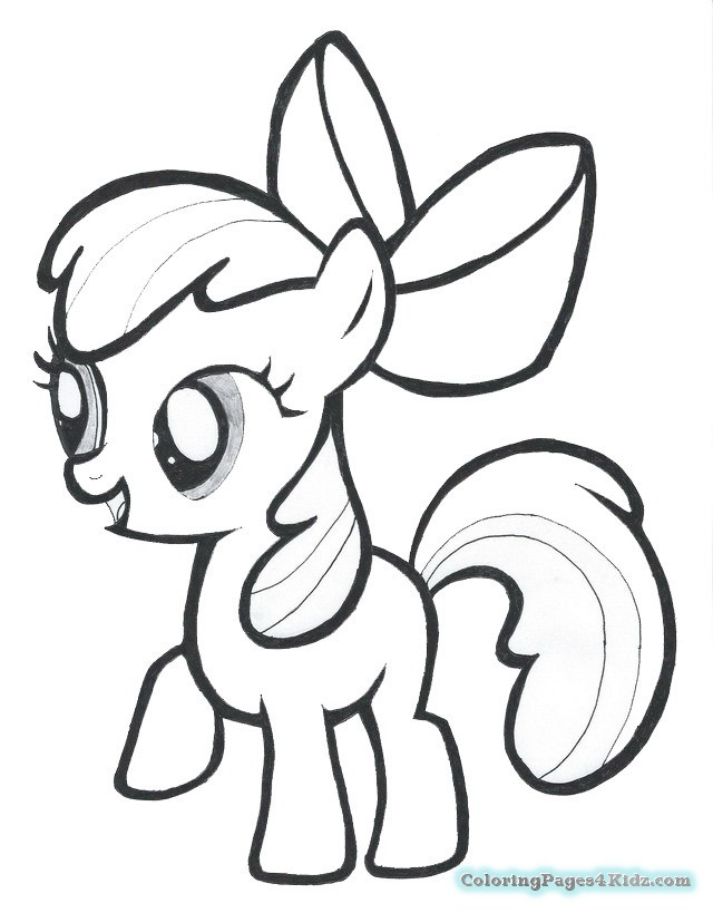 640x819 My Little Pony Printable Coloring Pages Apple Bloom Coloring