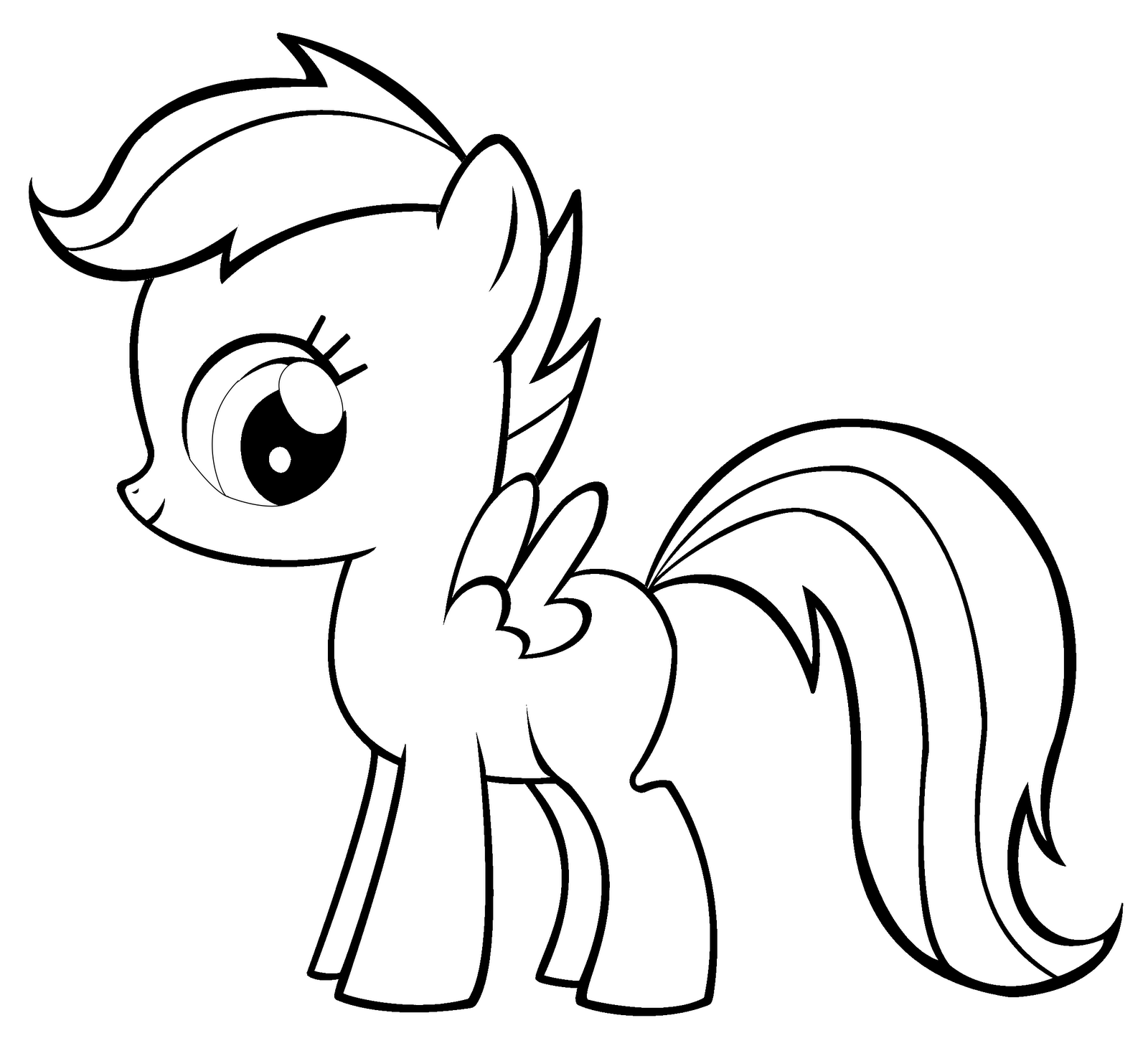 1600x1472 My Little Pony Scootaloo Coloring Pages