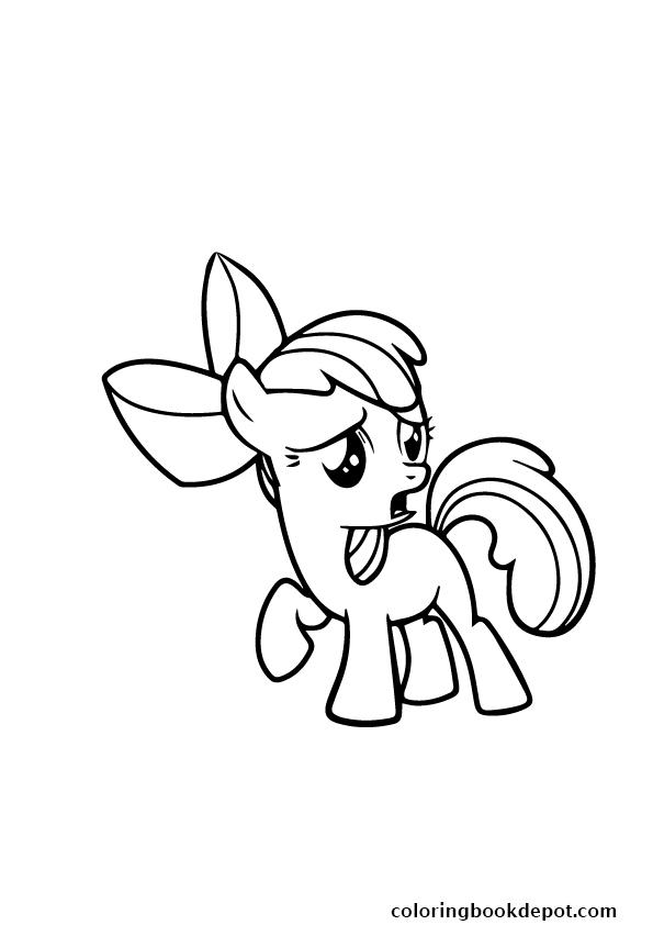 595x842 A Apple Bloom My Little Pony Coloring Pages