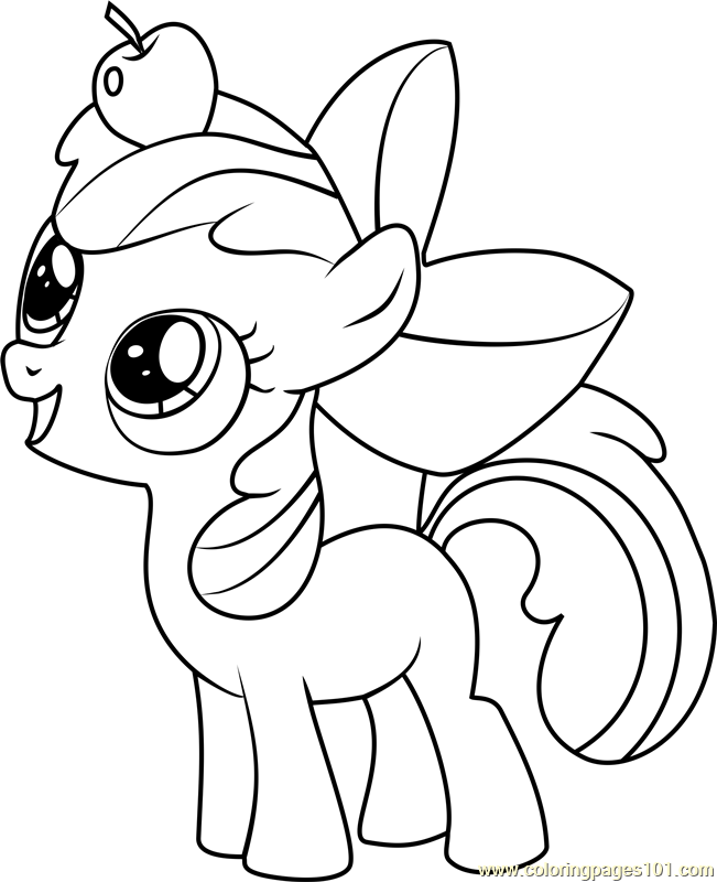my little pony apple bloom coloring page free printable - 651×800