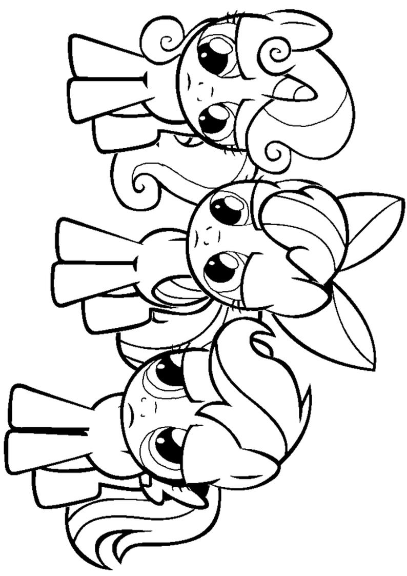 794x1123 Apple Bloom Kolorowanka My Little Pony Nr 8