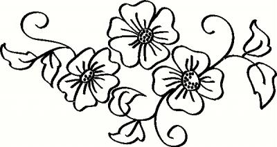 400x213 Apple Blossom Flower Drawing