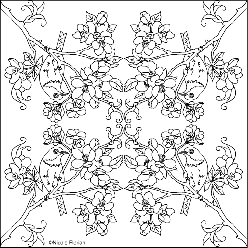 501x501 Nicole's Free Coloring Pages Apple Blossom Mandala Coloring Pages