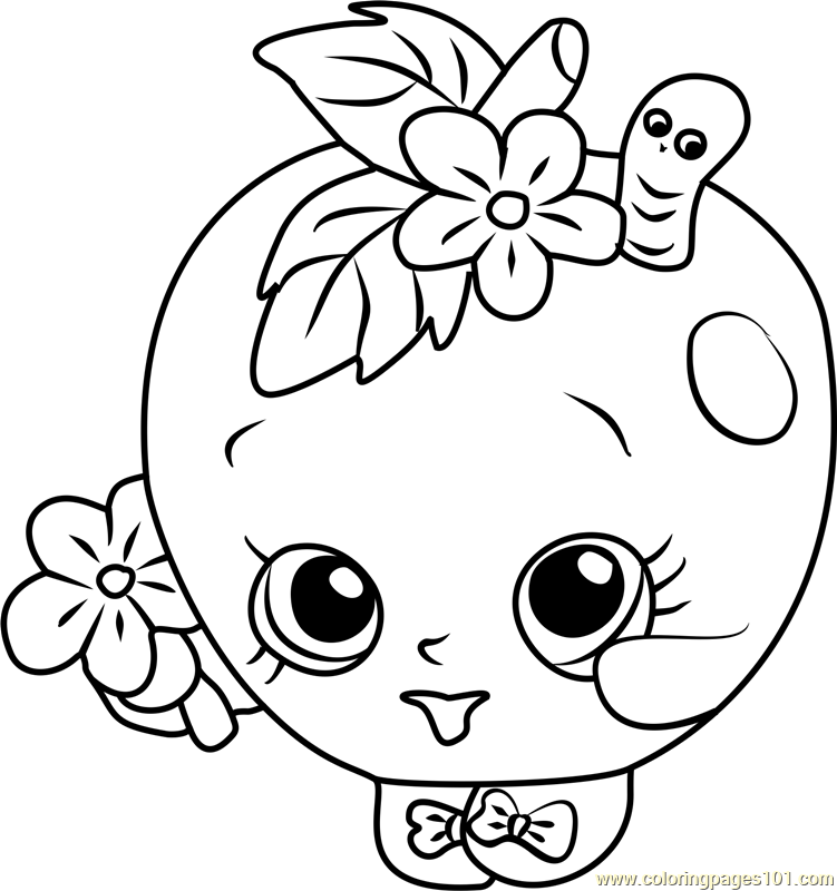 751x800 Apple Blossom Shopkins Coloring Page