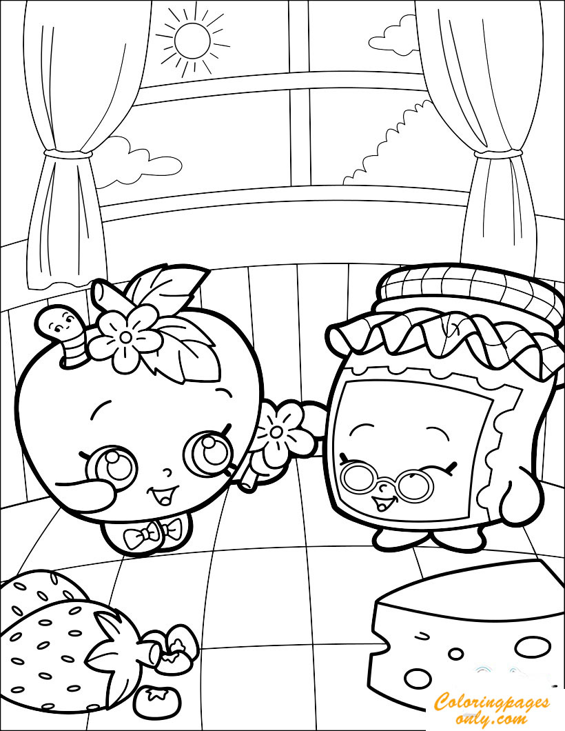 820x1060 Lovely Gran Jam And Appleblossom Coloring Page