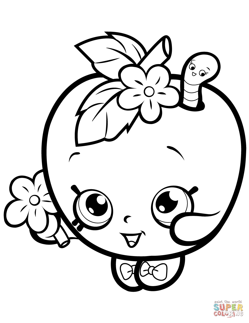 974x1260 Shopkins Apple Blossom Coloring Pages Free