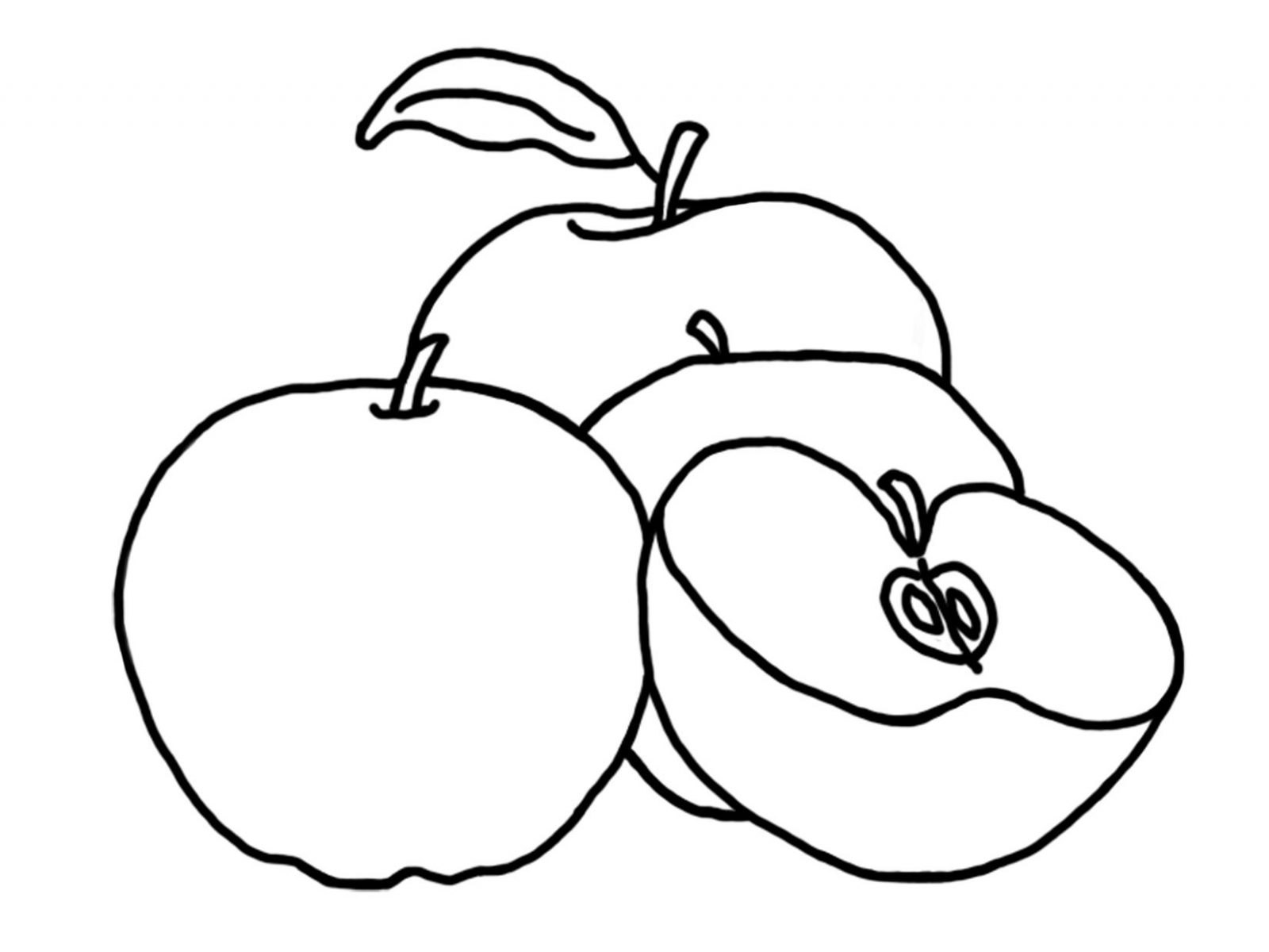 1600x1200 Free Printable And Download Apple Coloring Pages Kids Fruit