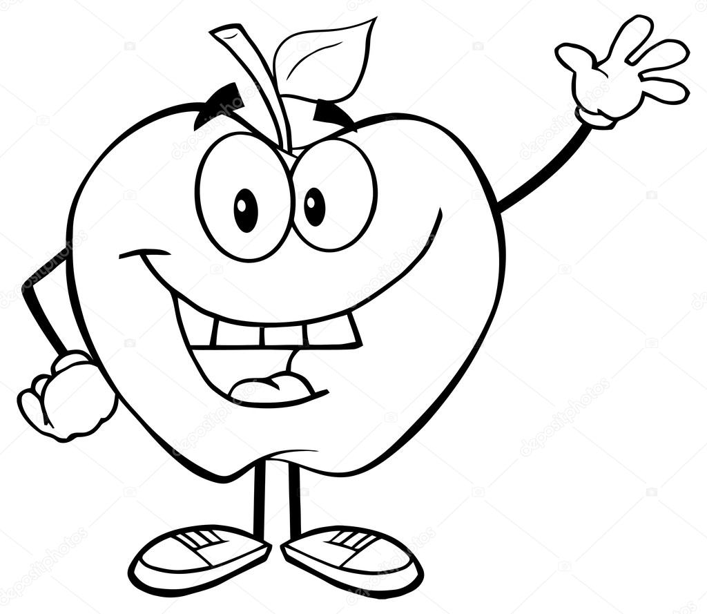 1024x889 Smiling Apple Cartoon Character Stock Vector Hittoon