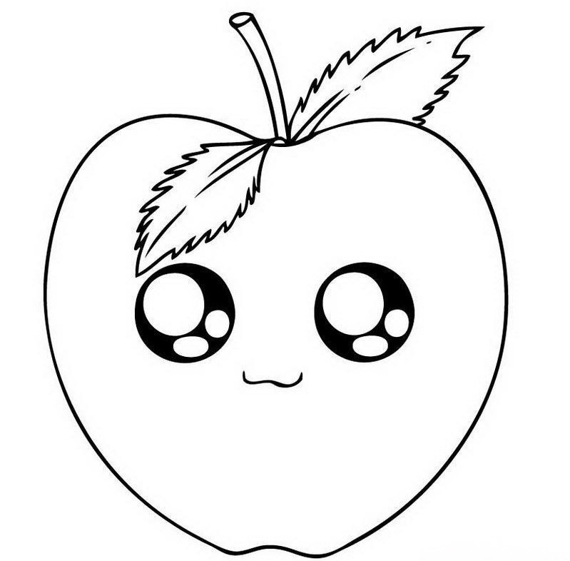 799x786 Apple Cartoon Drawings