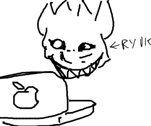 300x250 Ryuk (Death Note) Has An Apple (Computer)