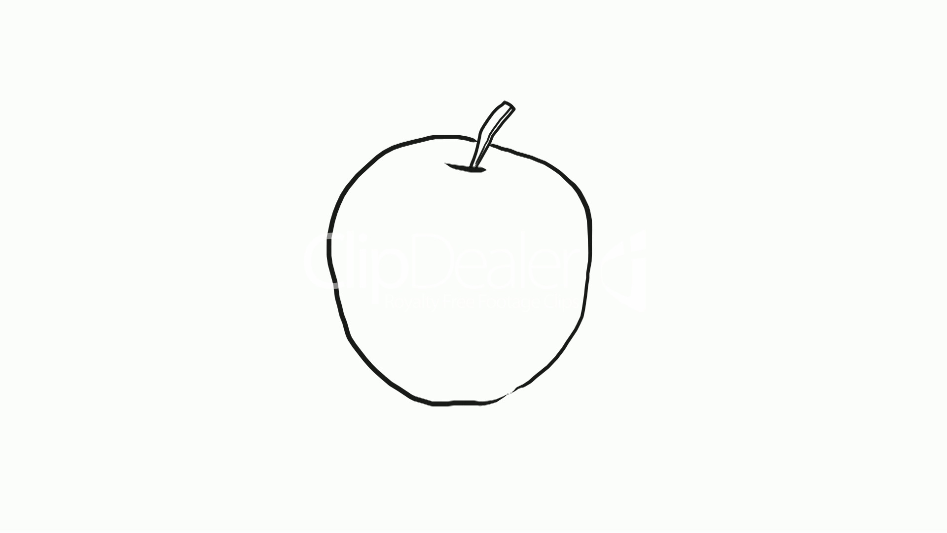 1920x1080 Drawing Of An Apple Royalty Free Video And Stock Footage