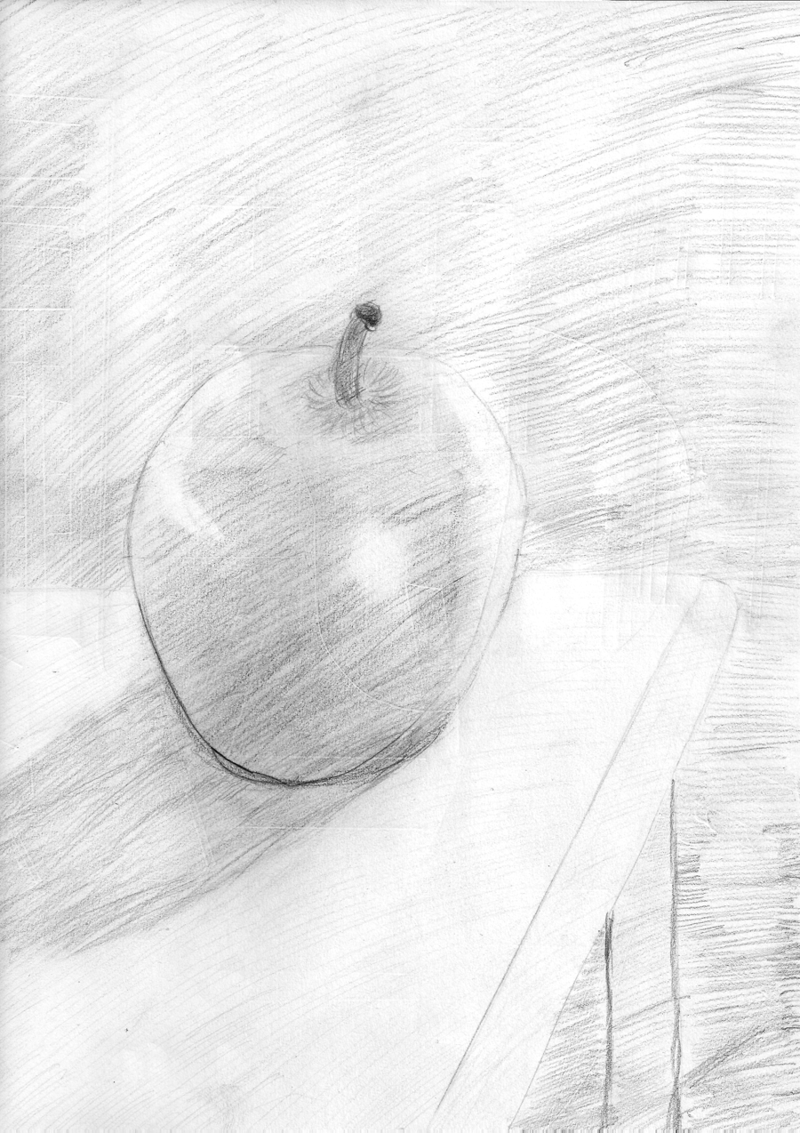 900x1274 My Granny Apple (Drawing) By Maelstrom Fenrir