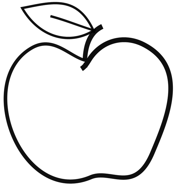 565x600 Pictures Drawing Of A Simple Apple,