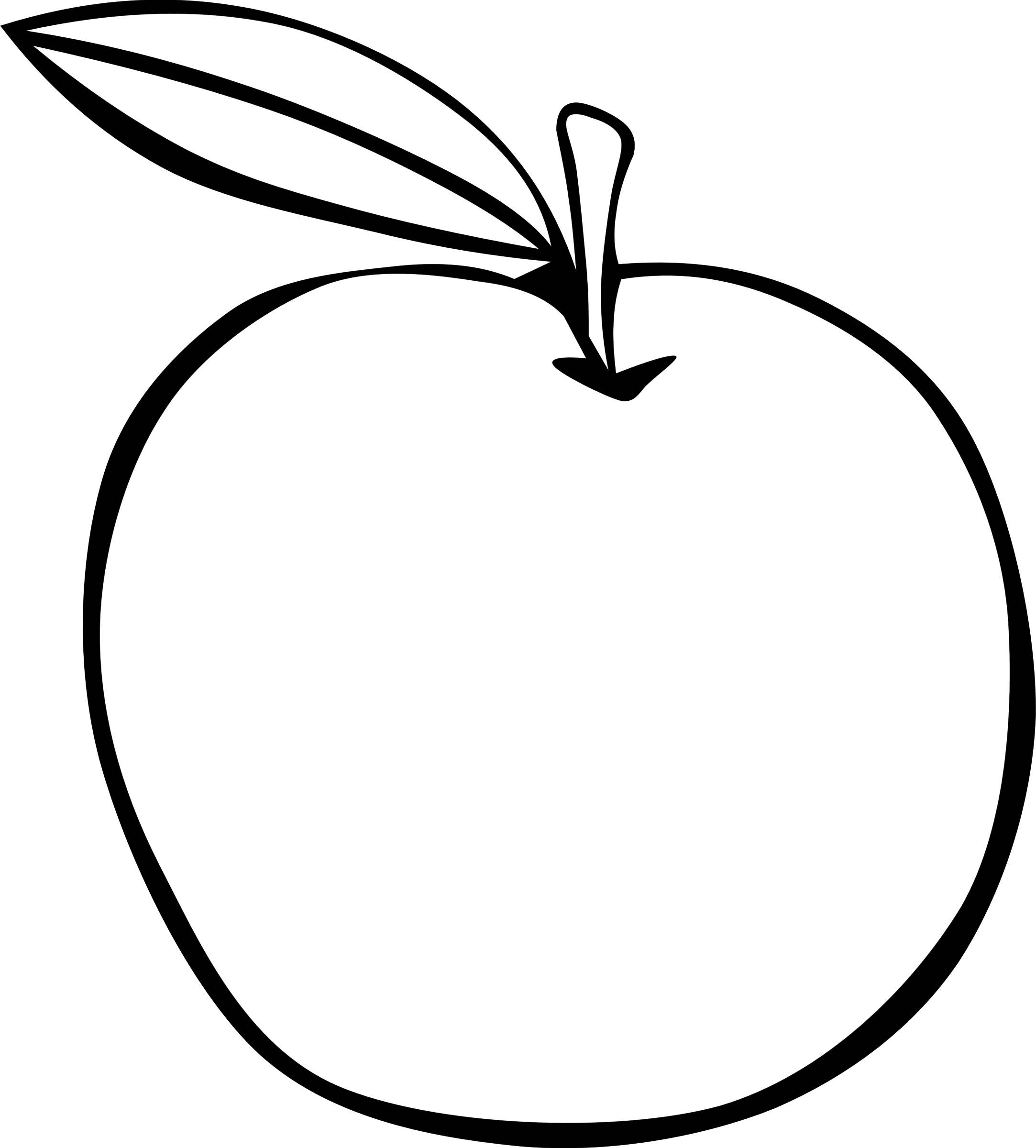 2166x2400 Pictures Drawing Of A Simple Apple,